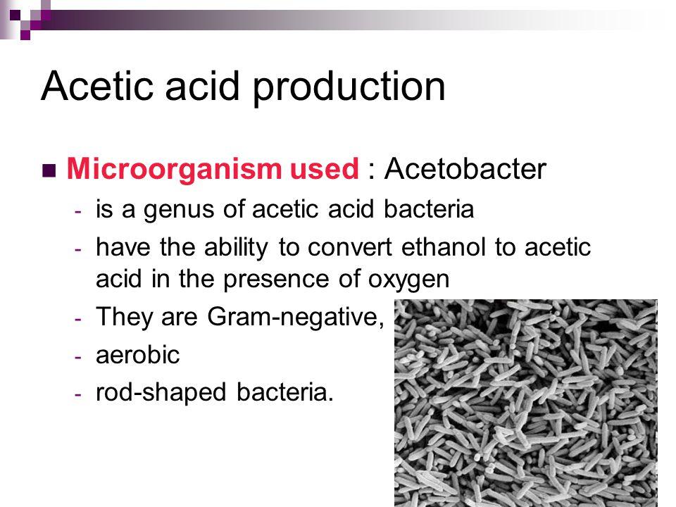 Acetic acid production