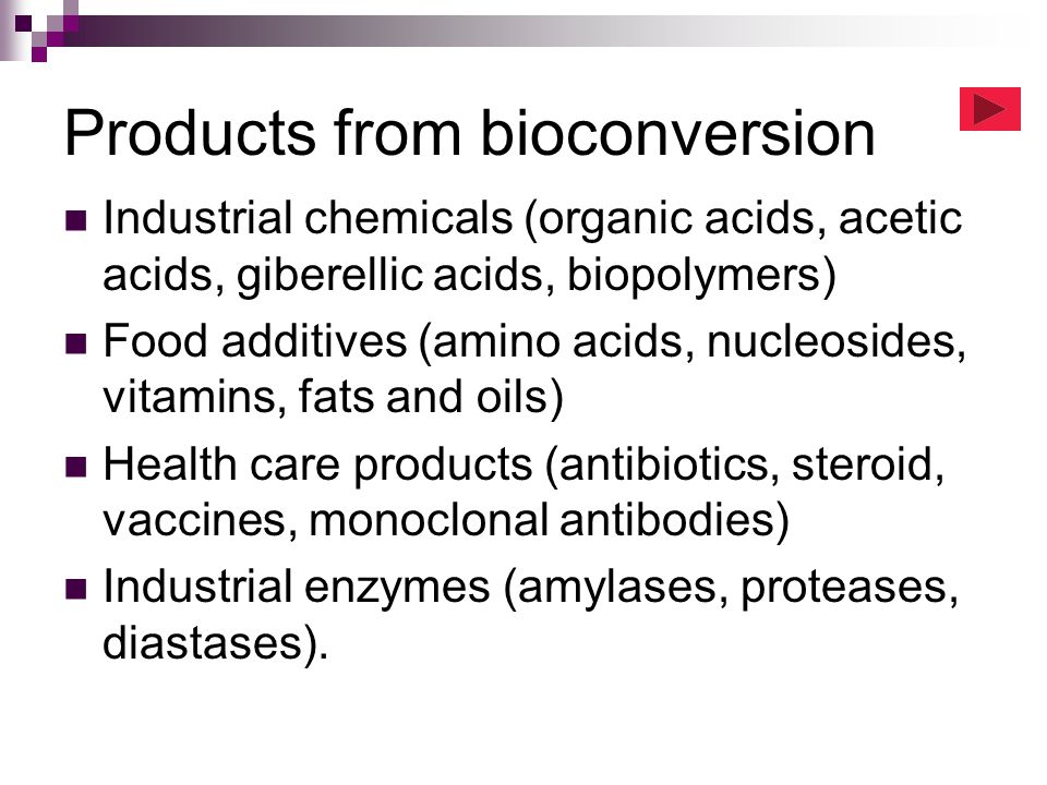 Products from bioconversion