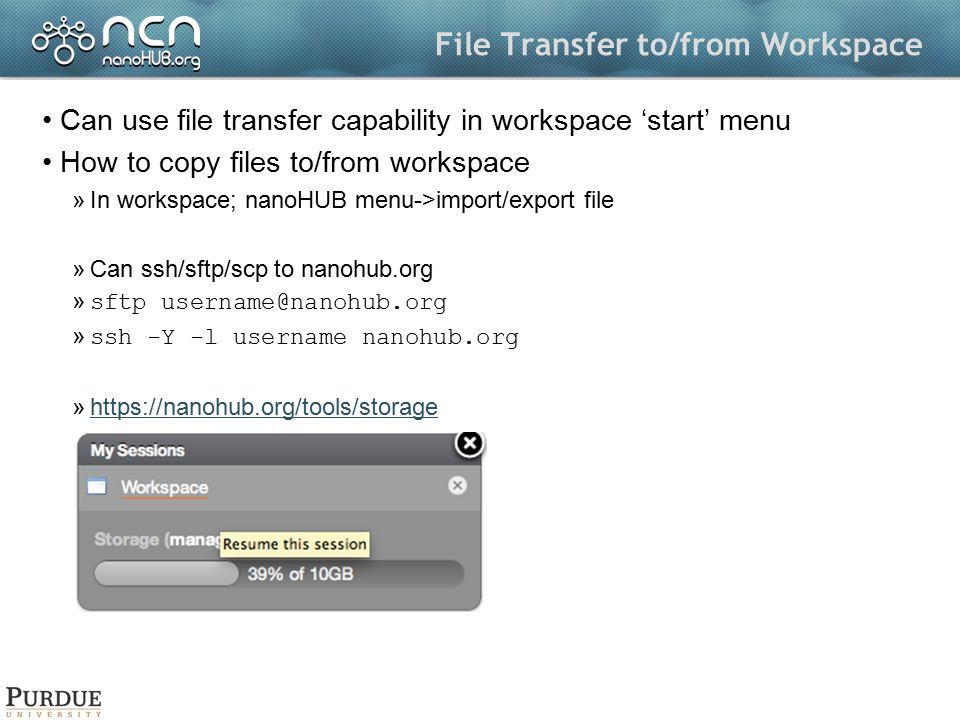 File Transfer to/from Workspace