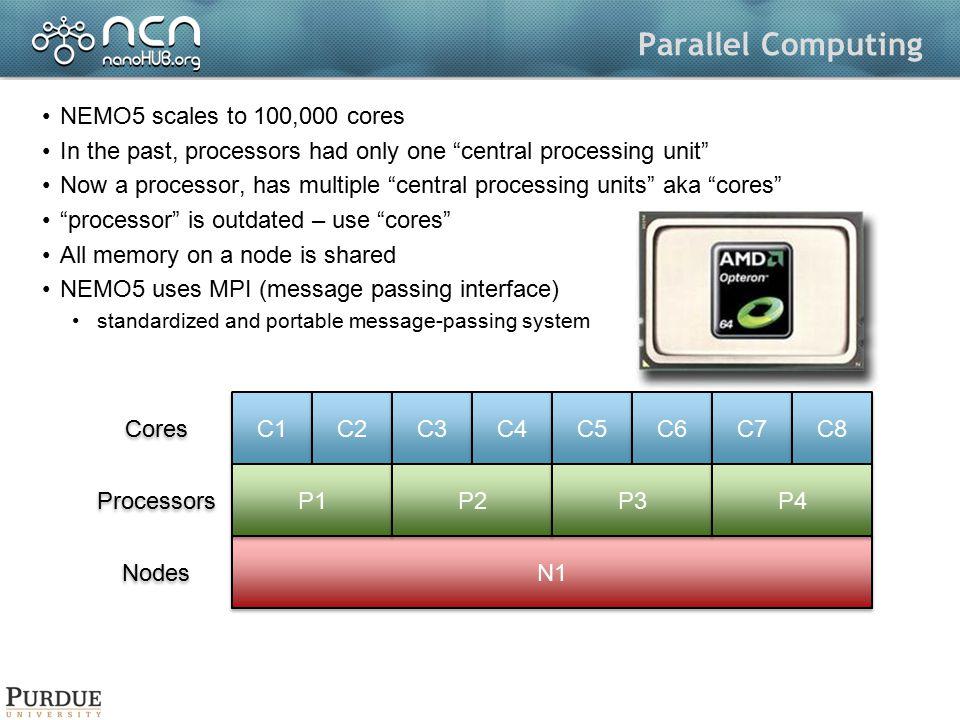 Parallel Computing NEMO5 scales to 100,000 cores