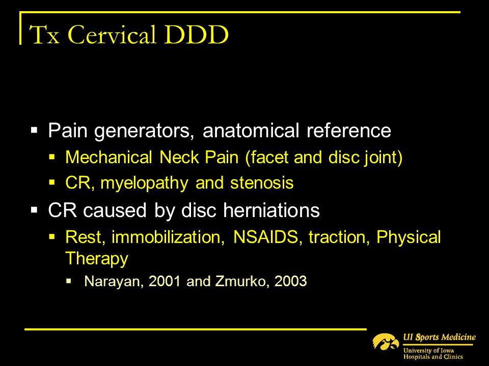 Tx Cervical DDD Pain generators, anatomical reference