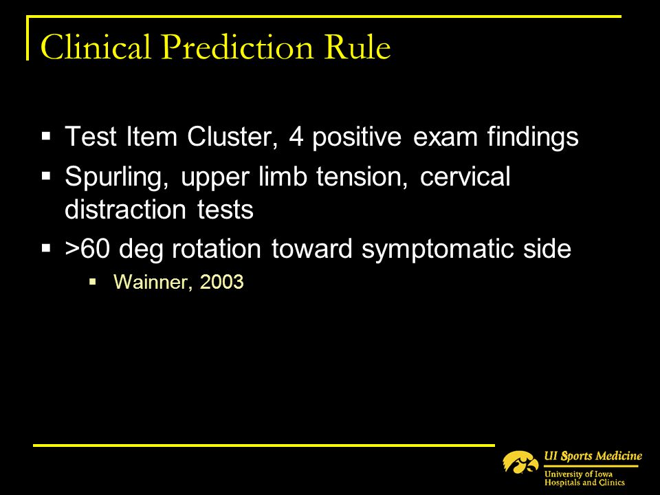 Clinical Prediction Rule