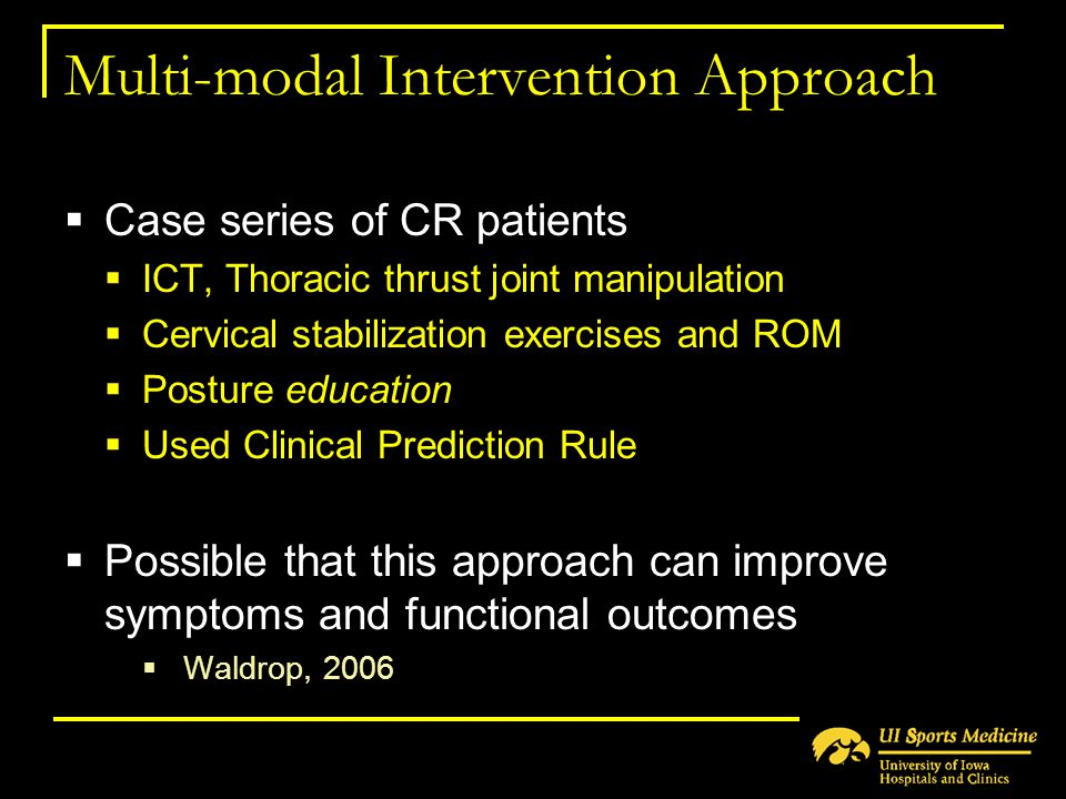 Multi-modal Intervention Approach