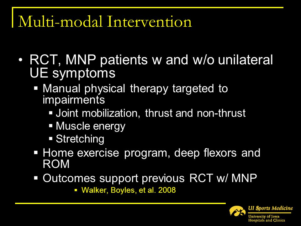 Multi-modal Intervention