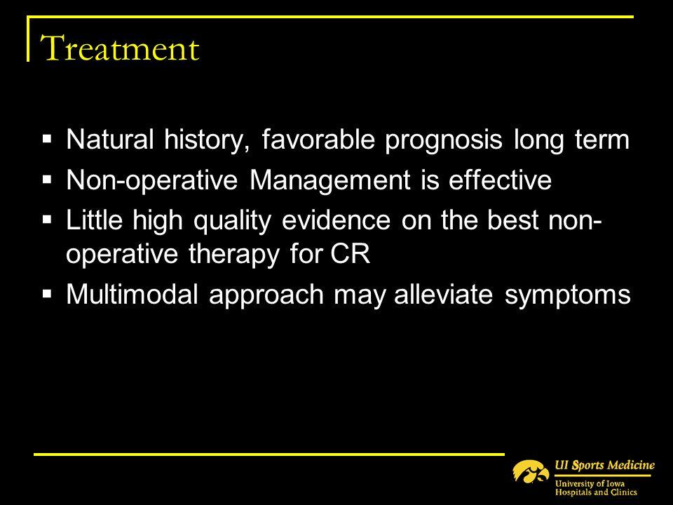 Treatment Natural history, favorable prognosis long term