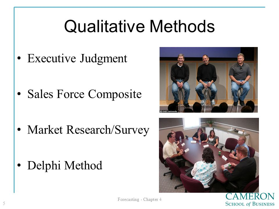 Qualitative Methods Executive Judgment Sales Force Composite