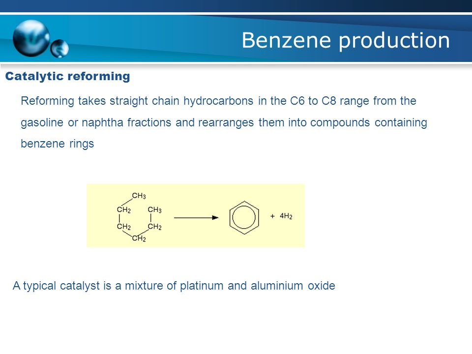Benzene production Catalytic reforming