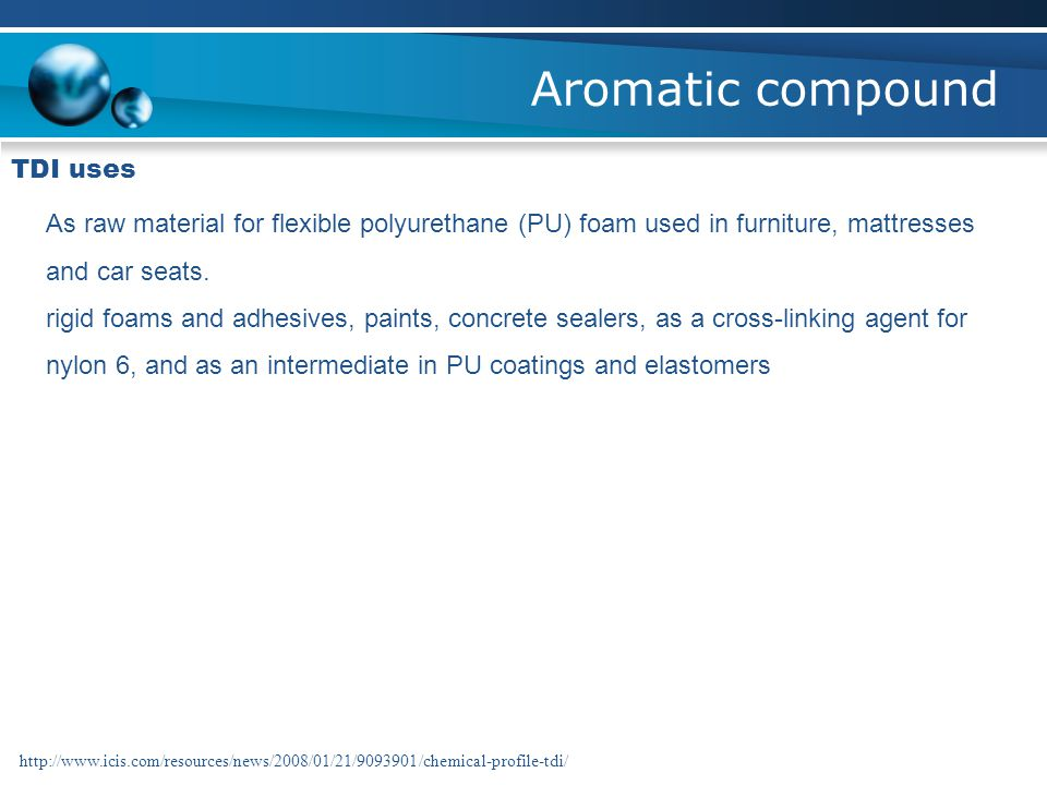 Aromatic compound TDI uses