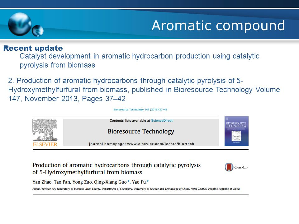 Aromatic compound Recent update