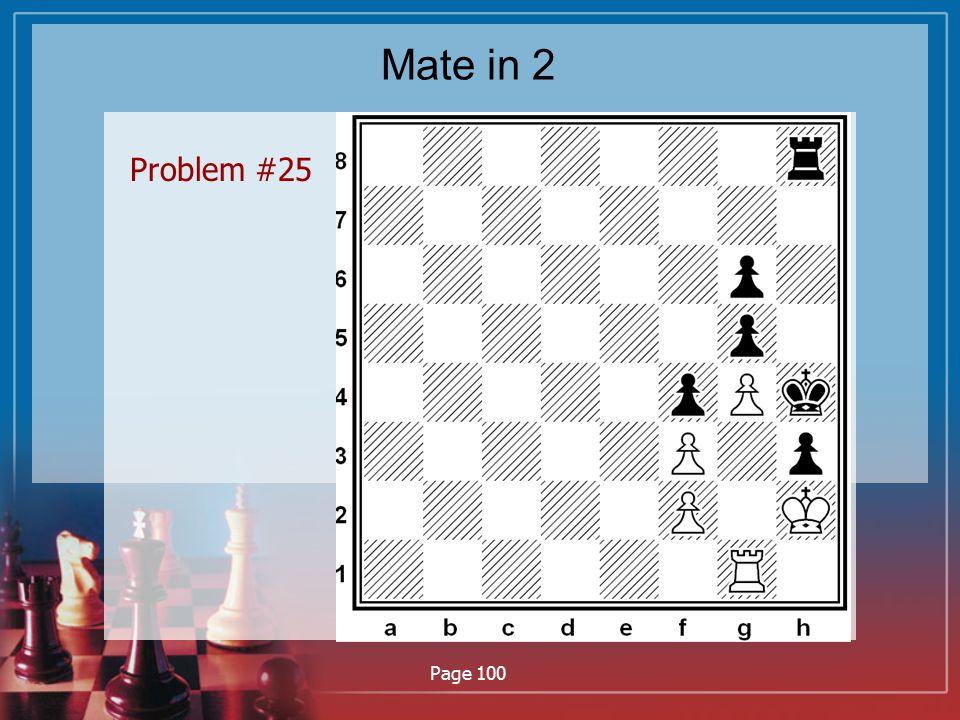 Mate in 2 Problem #25