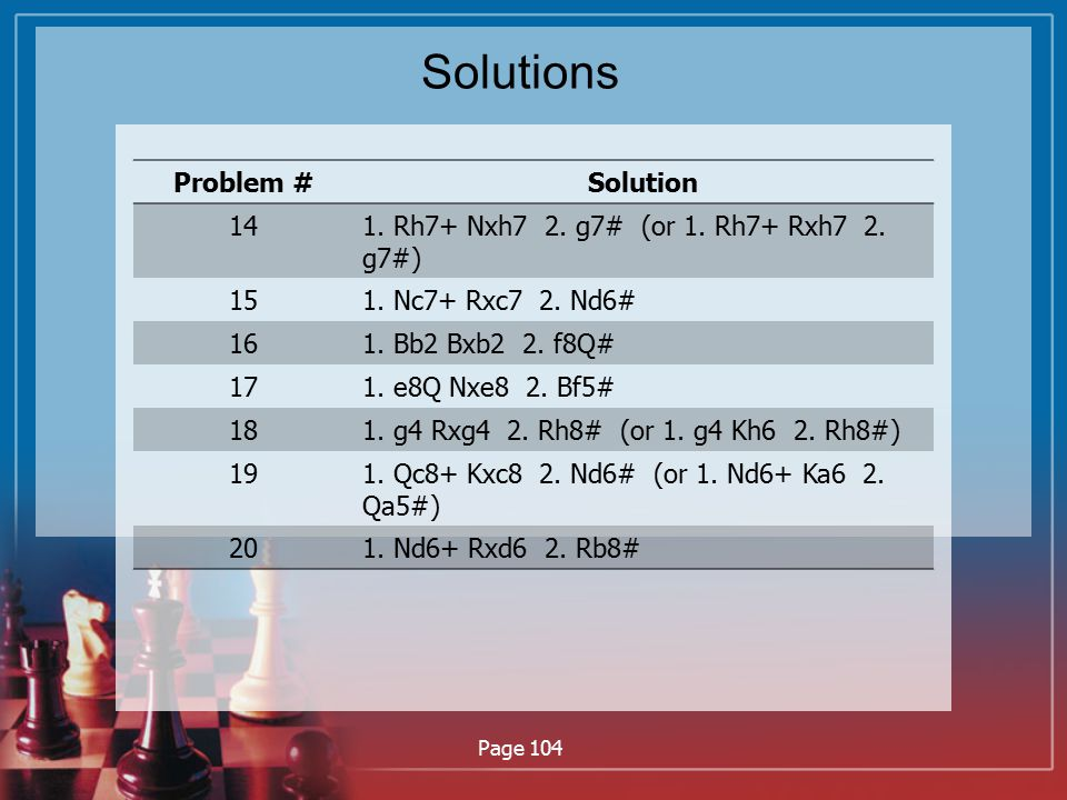 Solutions Problem # Solution 14