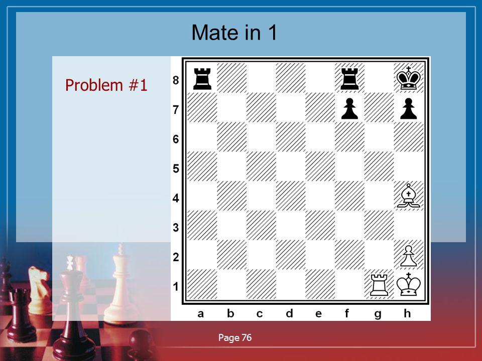 Mate in 1 Problem #1