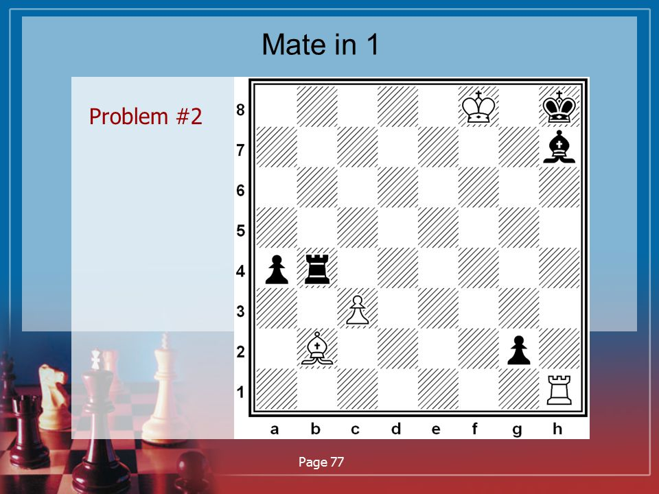 Mate in 1 Problem #2