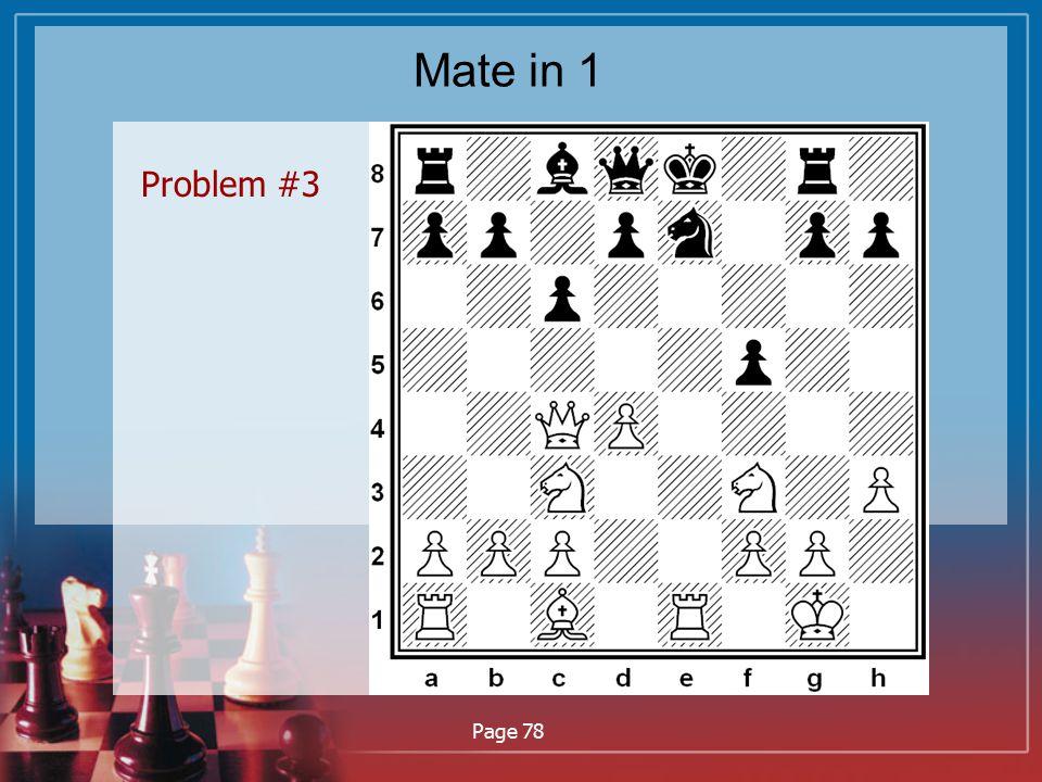 Mate in 1 Problem #3