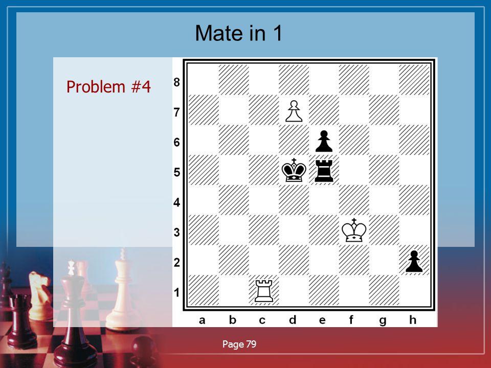 Mate in 1 Problem #4