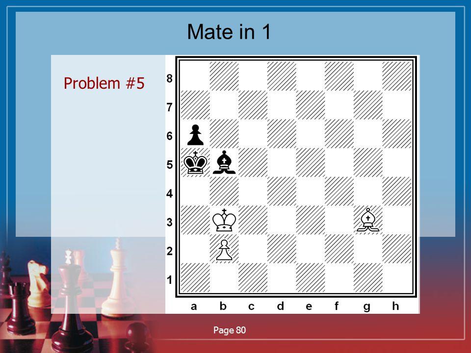 Mate in 1 Problem #5