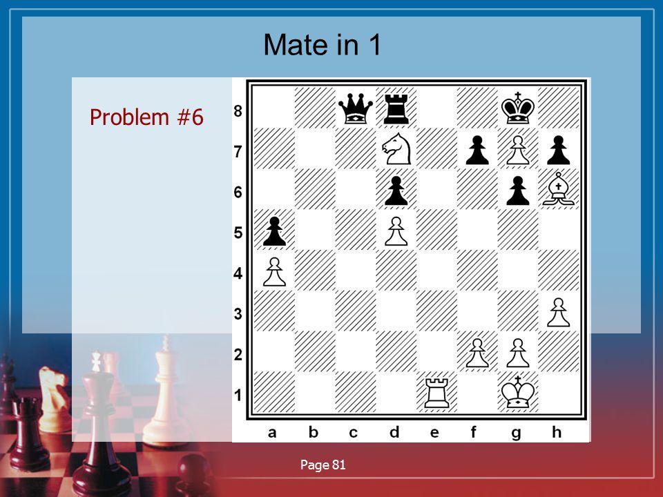 Mate in 1 Problem #6