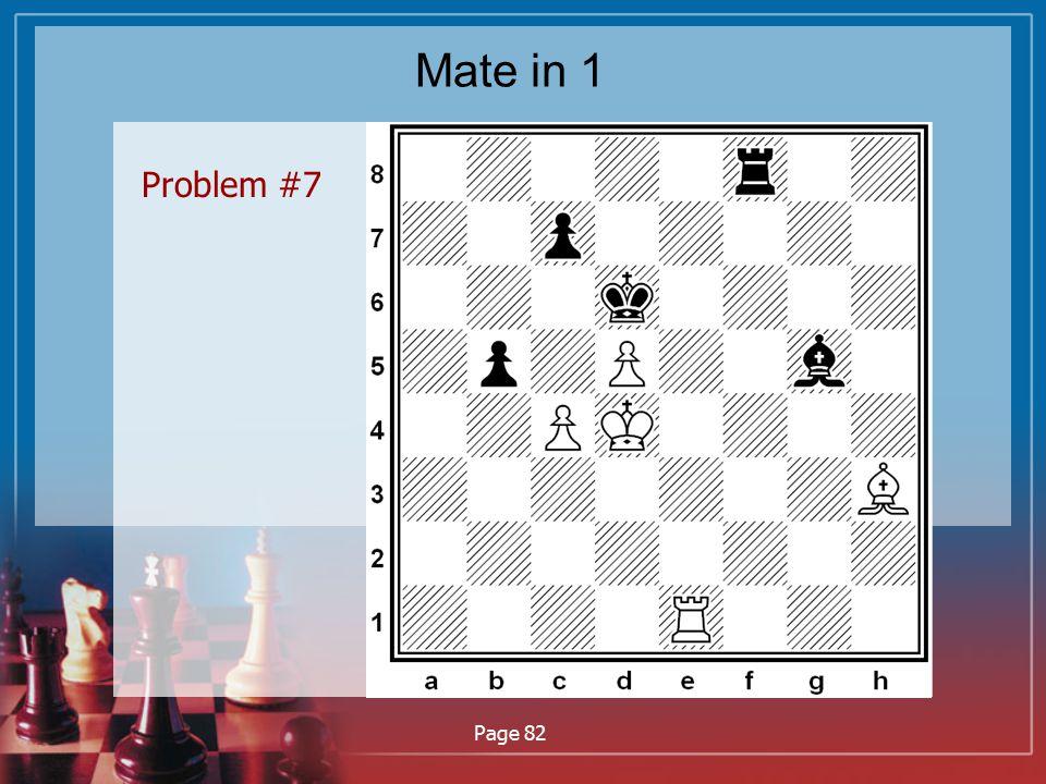 Mate in 1 Problem #7