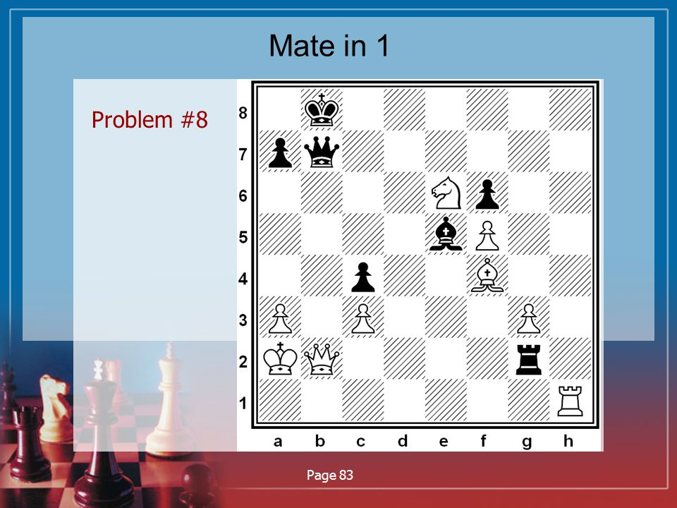 Mate in 1 Problem #8