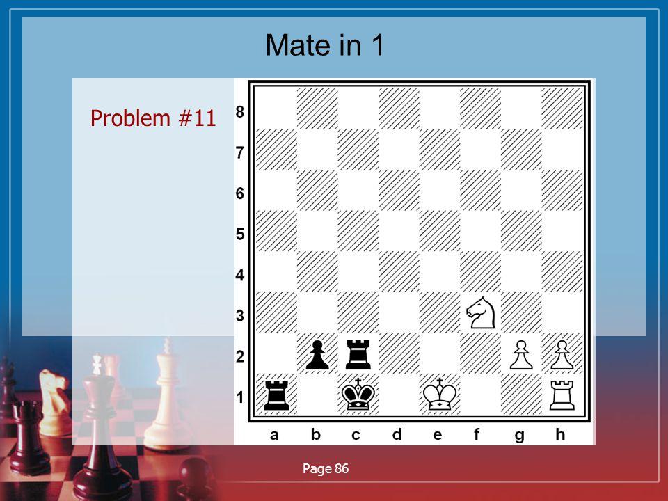 Mate in 1 Problem #11