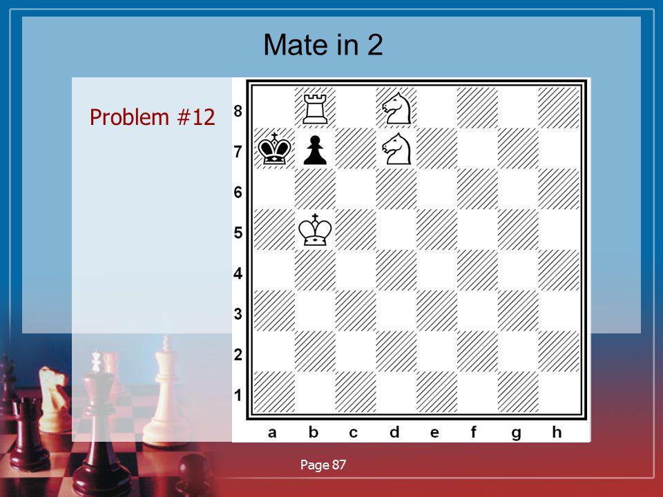 Mate in 2 Problem #12