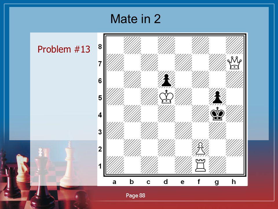 Mate in 2 Problem #13