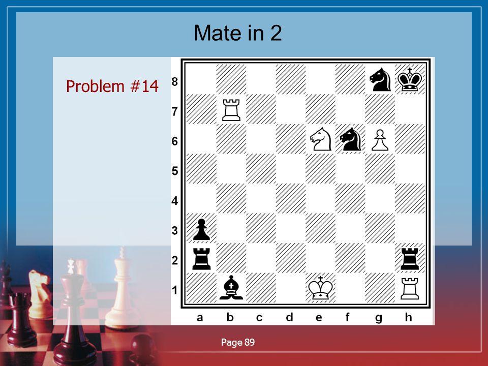 Mate in 2 Problem #14