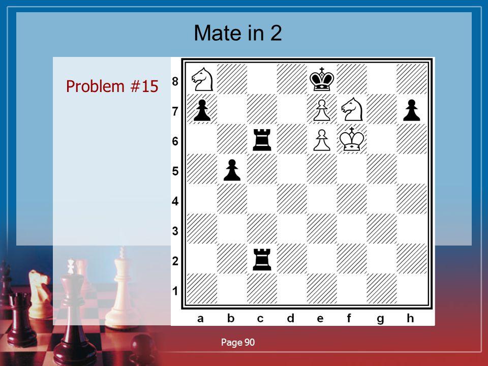 Mate in 2 Problem #15