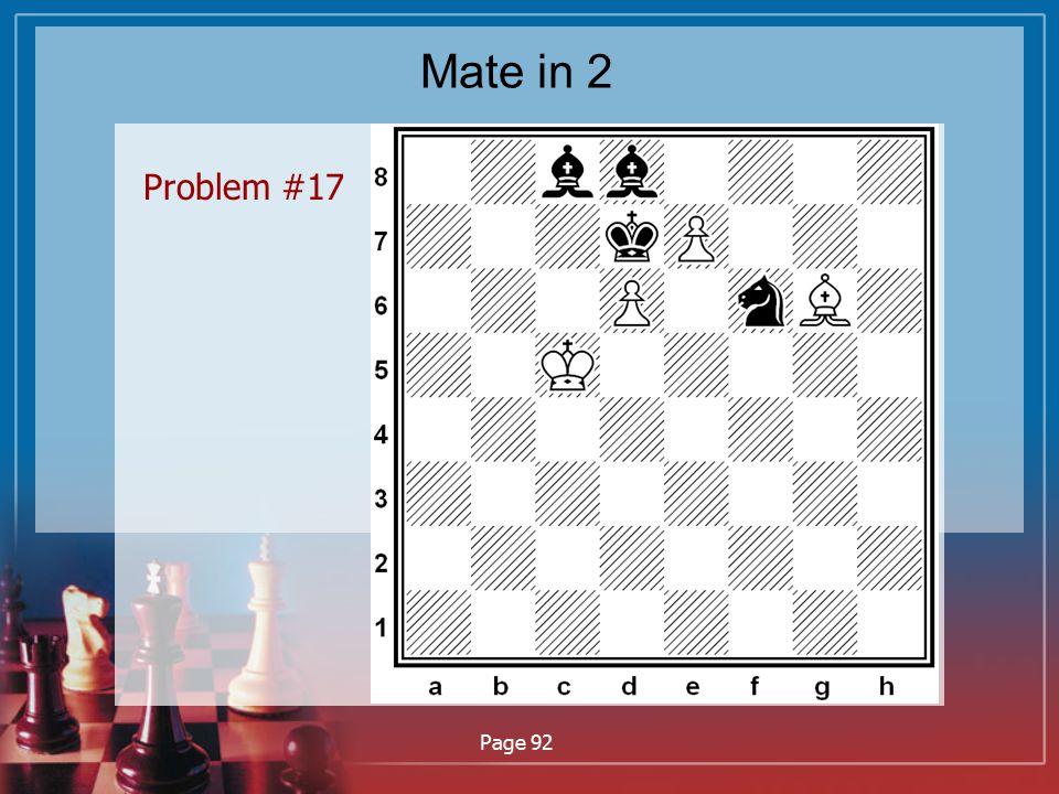 Mate in 2 Problem #17