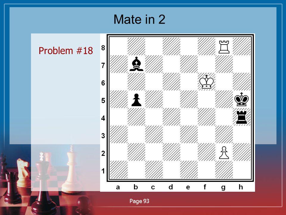 Mate in 2 Problem #18