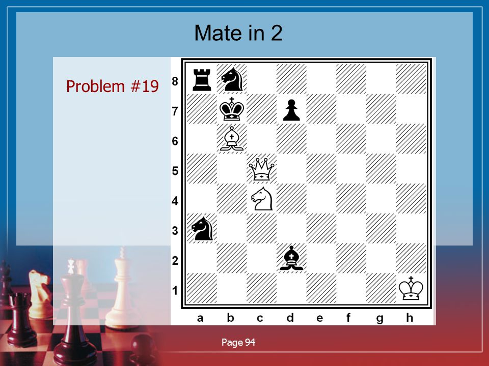 Mate in 2 Problem #19