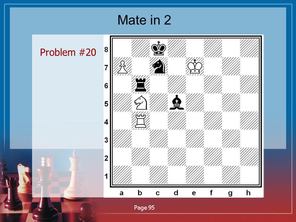 Mate in 2 Problem #20