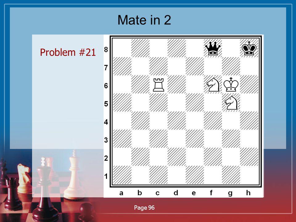 Mate in 2 Problem #21