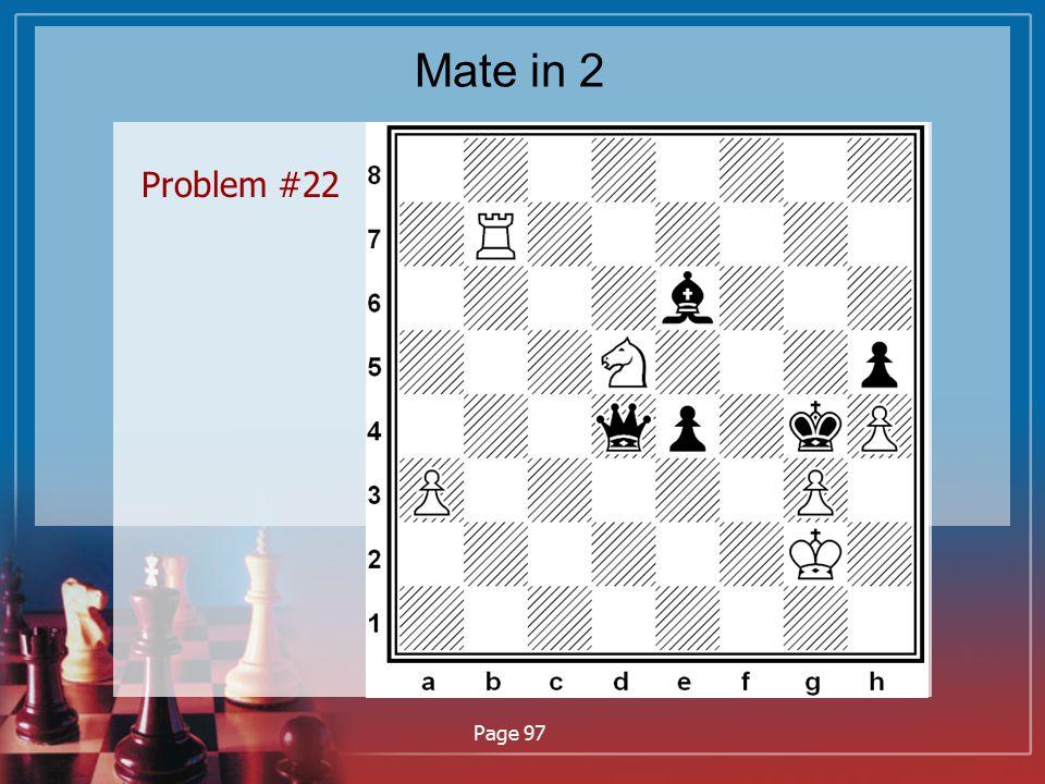 Mate in 2 Problem #22