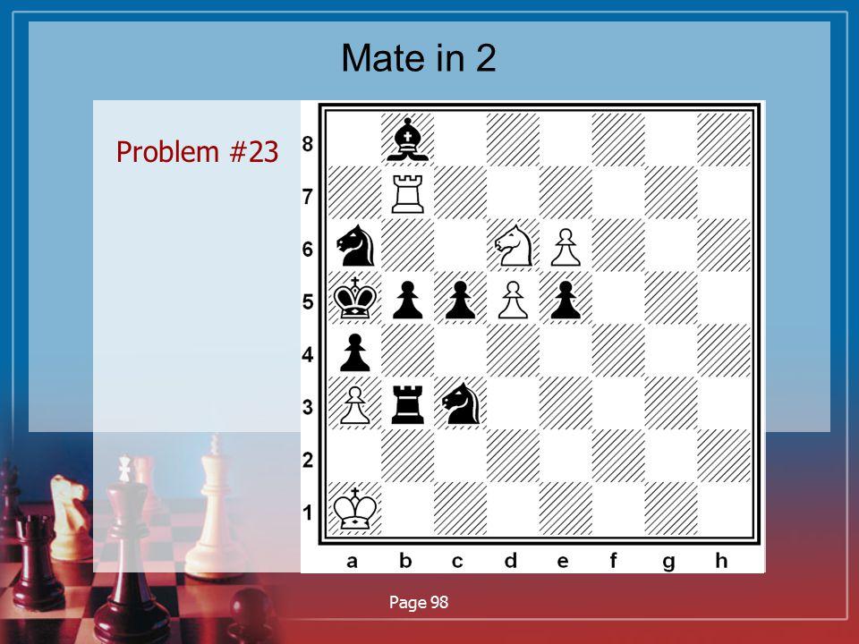 Mate in 2 Problem #23