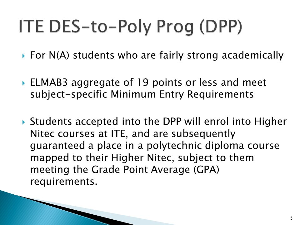 ITE DES-to-Poly Prog (DPP)