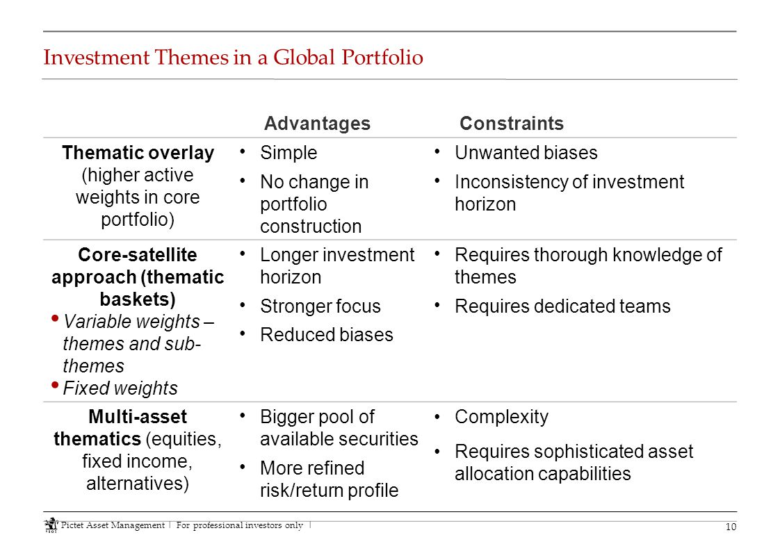 Investment Themes in a Global Portfolio