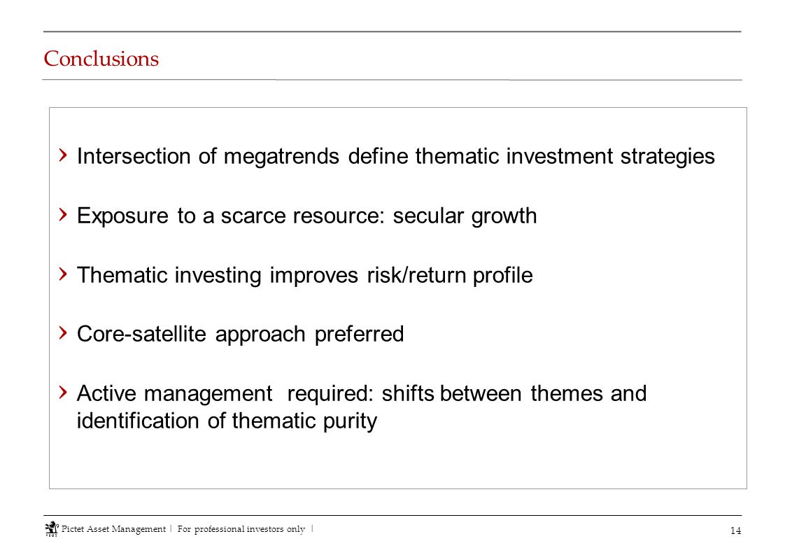 Intersection of megatrends define thematic investment strategies