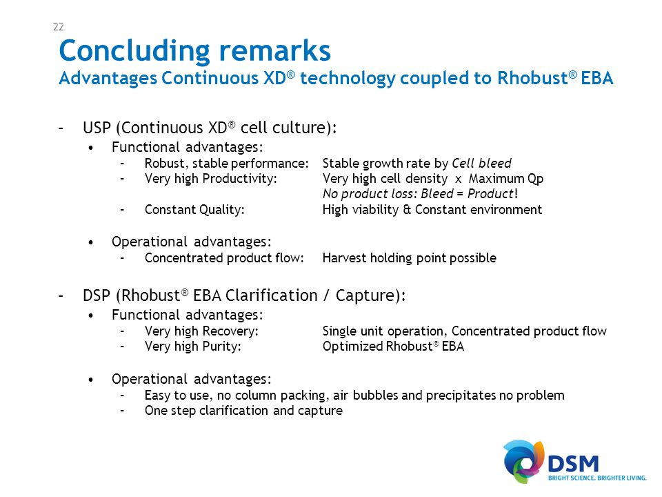 Acknowledgements: R&D Scientist team DSM-B GMP Process Technologist team. Gerben Zijlstra Imre Akkerman.
