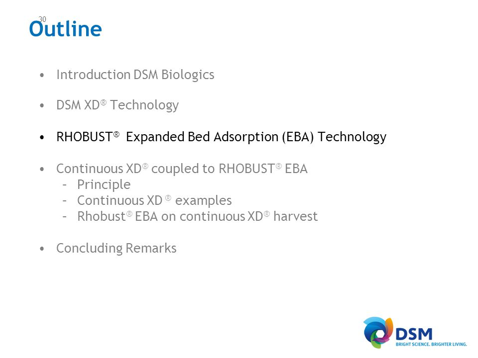 Rhobust®: In action Elution of concentrated product