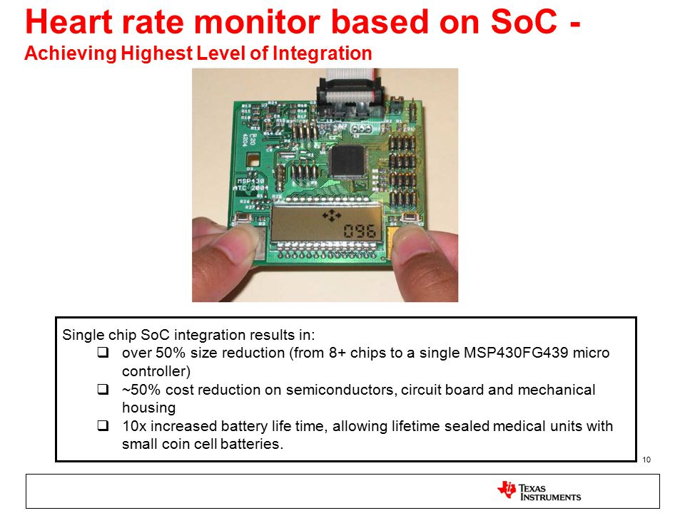 Heart rate monitor based on SoC - Achieving Highest Level of Integration