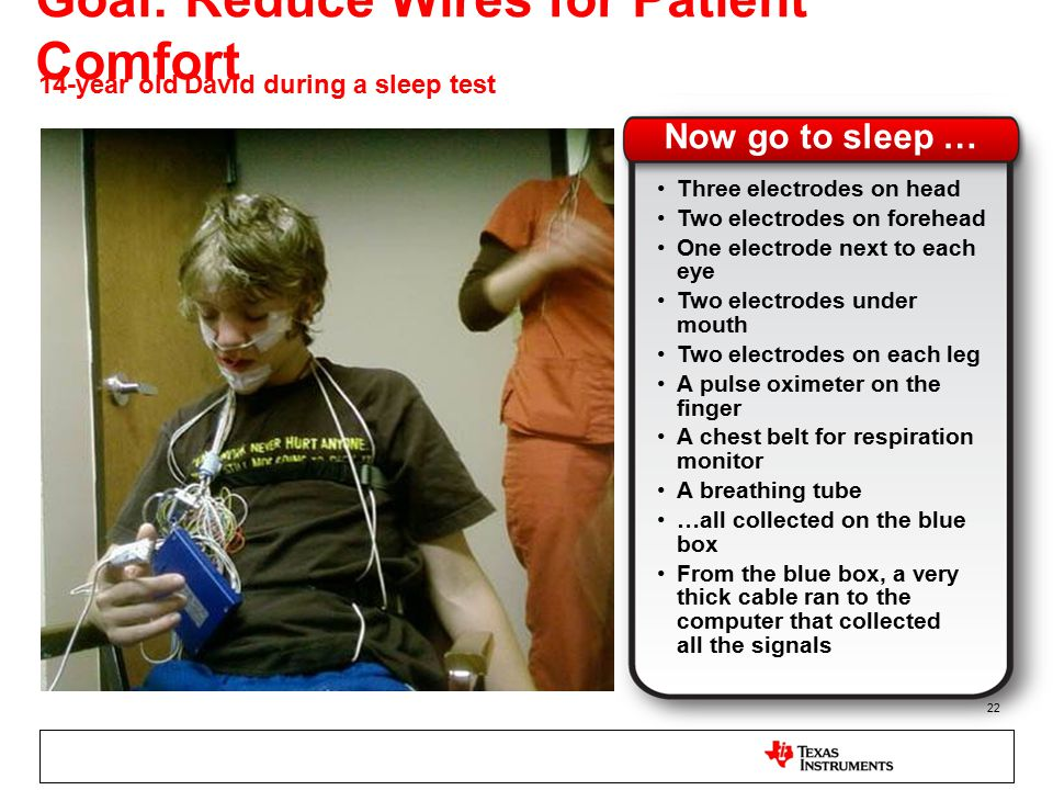 Goal: Reduce Wires for Patient Comfort