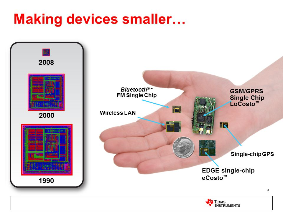 Making devices smaller…