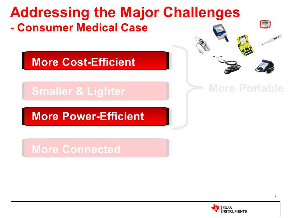 Addressing the Major Challenges - Consumer Medical Case