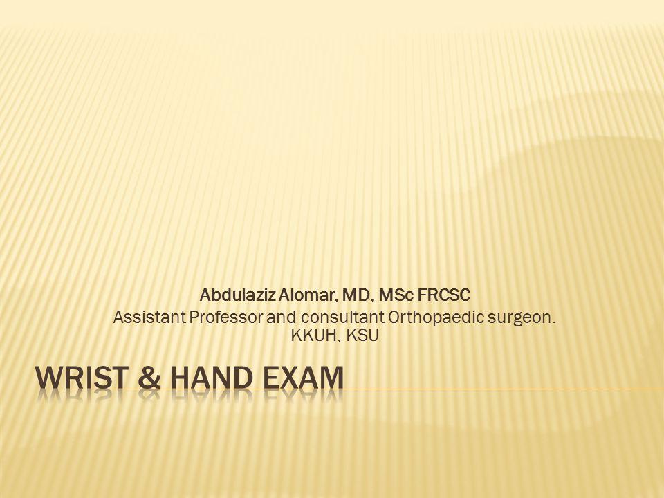 Abdulaziz Alomar, MD, MSc FRCSC