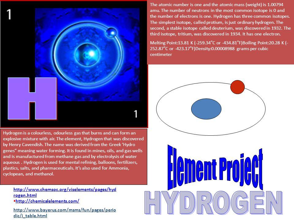 H Element Project HYDROGEN
