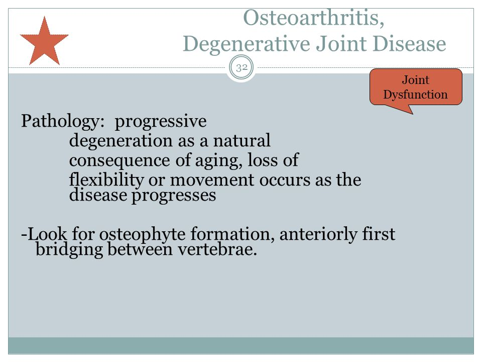 Osteoarthritis, Degenerative Joint Disease