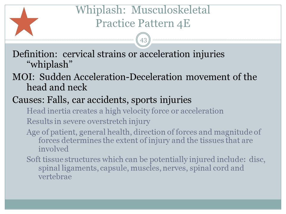 Whiplash: Musculoskeletal Practice Pattern 4E