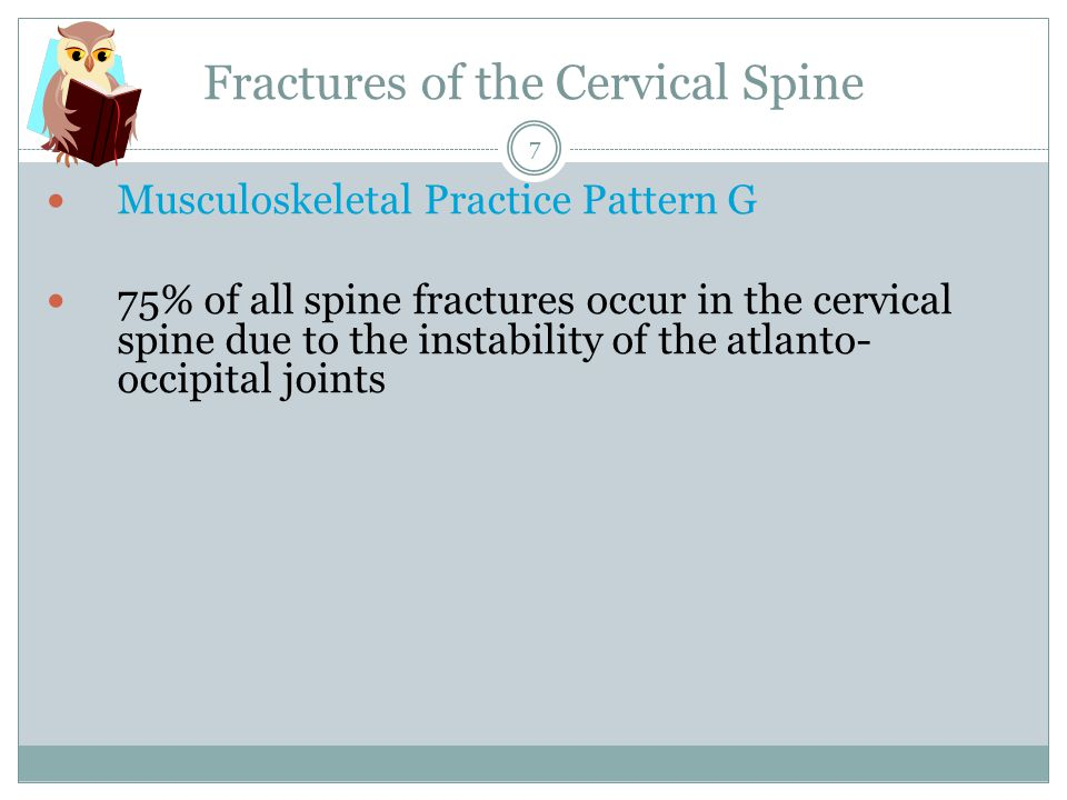 Fractures of the Cervical Spine