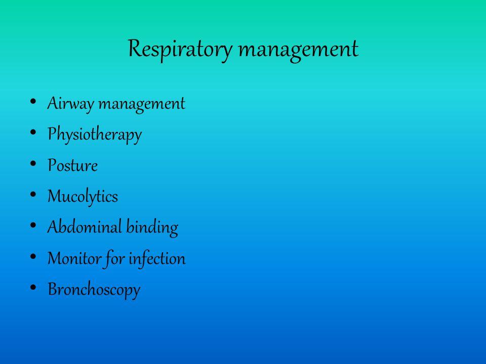 Respiratory management